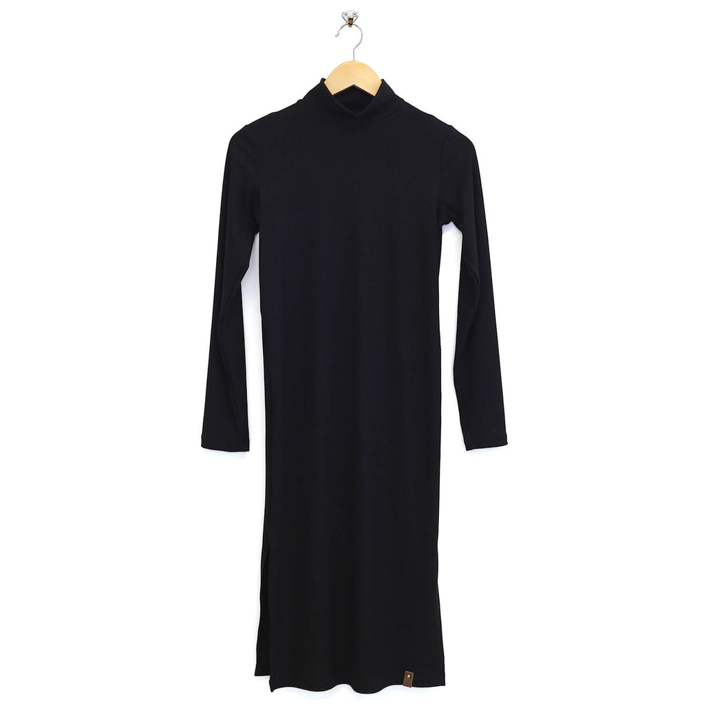 Bailee Women's Mockneck Maxi Dress - Onyx Black