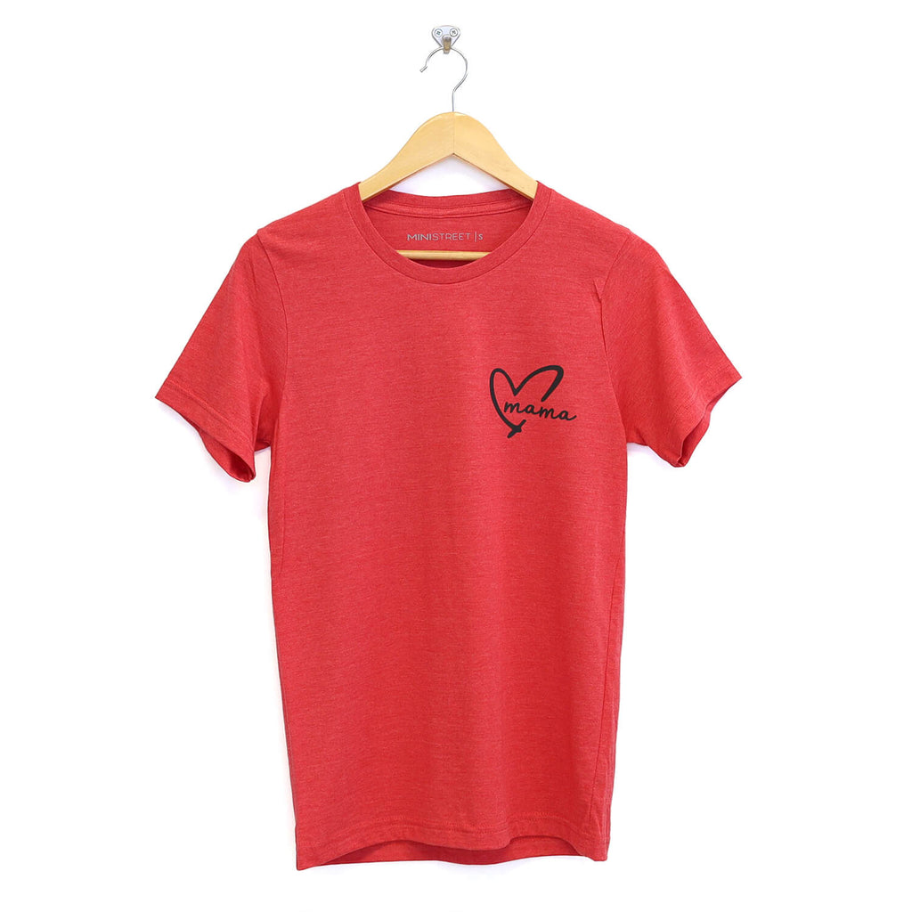 "Tee - Mama+MINI Heart - Red ""Limited Edition"""