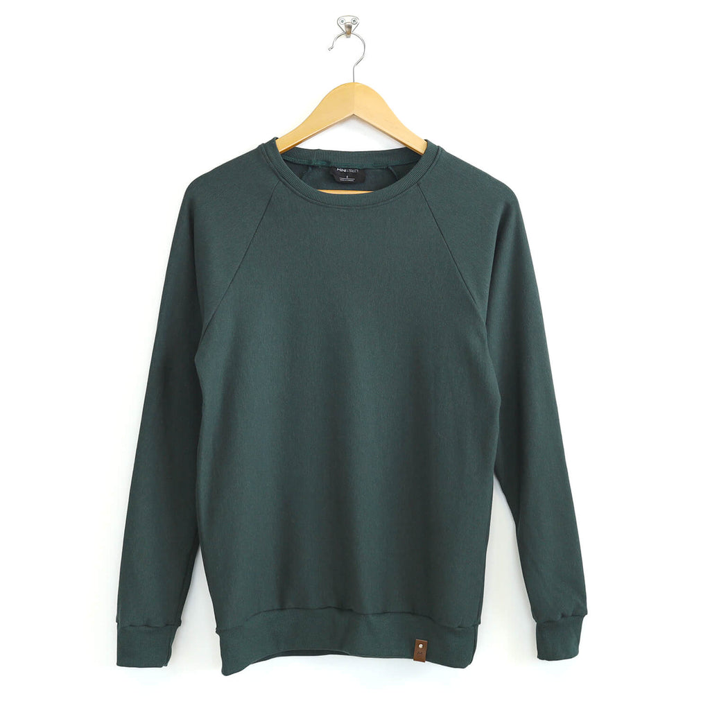 Jaxon Crew Sweater - Adult - Hunter Green
