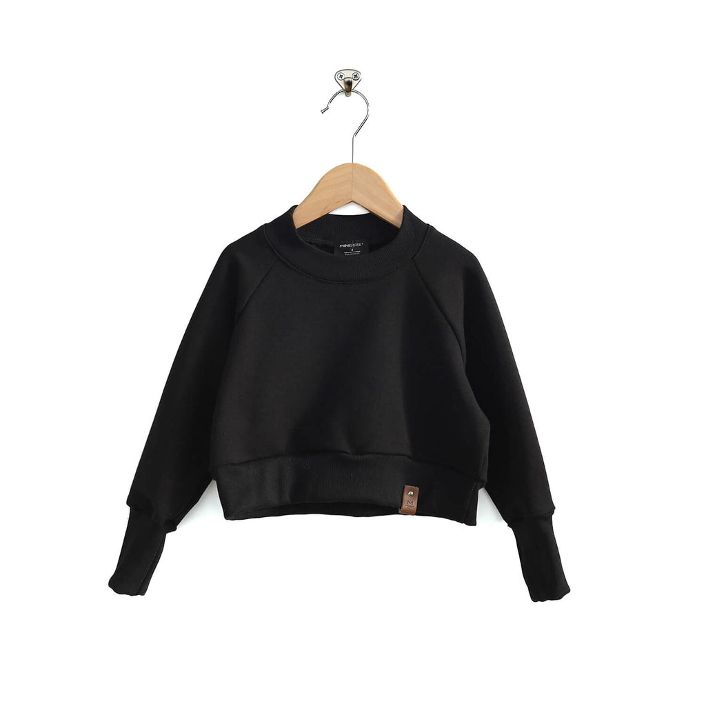 Josie Cropped Sweater - Black