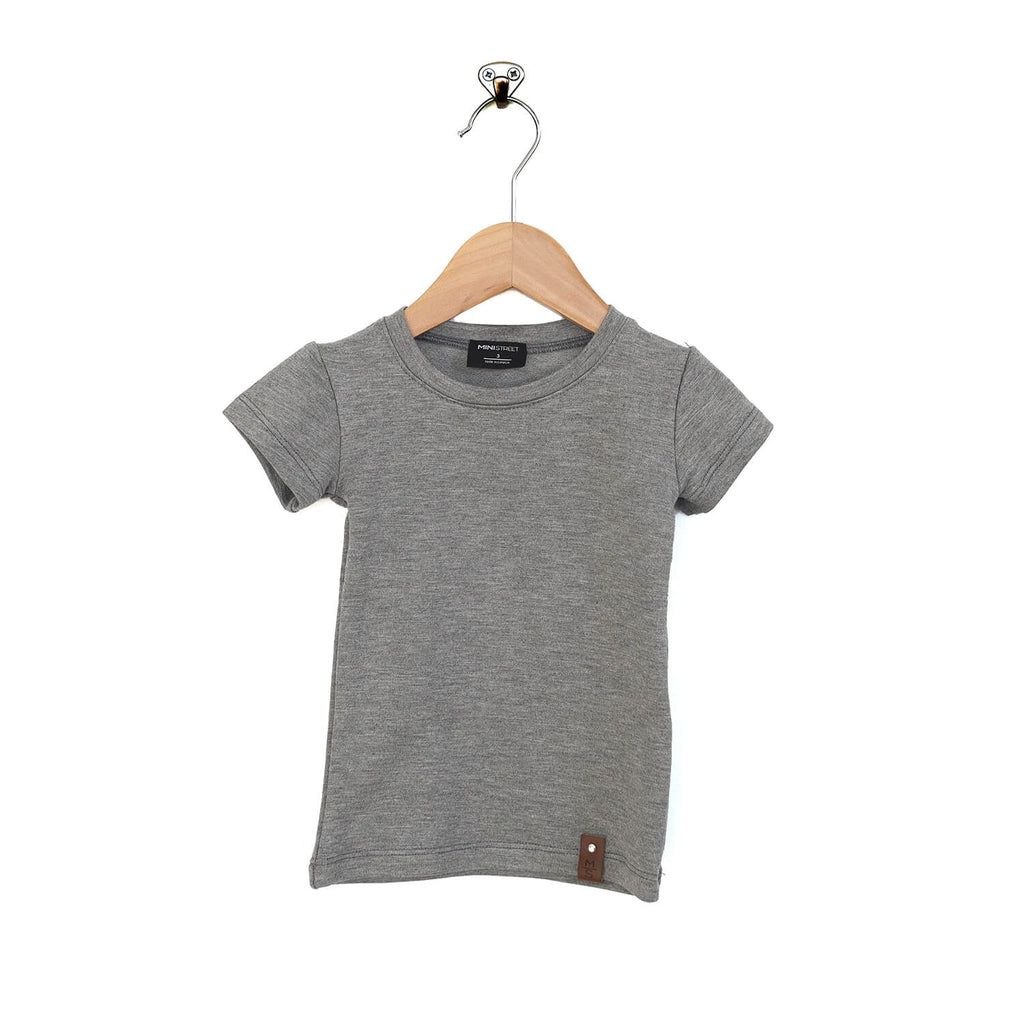 Mae Fitted Tee - Stone Gray