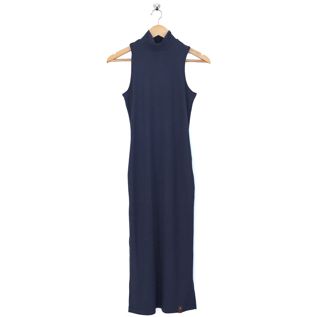 Billie Women's Mockneck Maxi Dress - Midnight Blue
