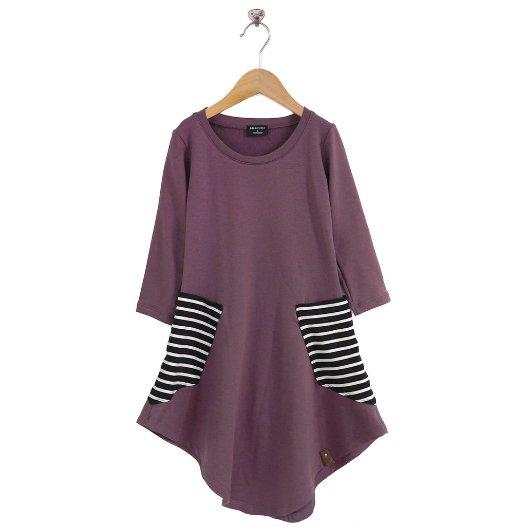 Brady Swing Dress - Lilac Stripe