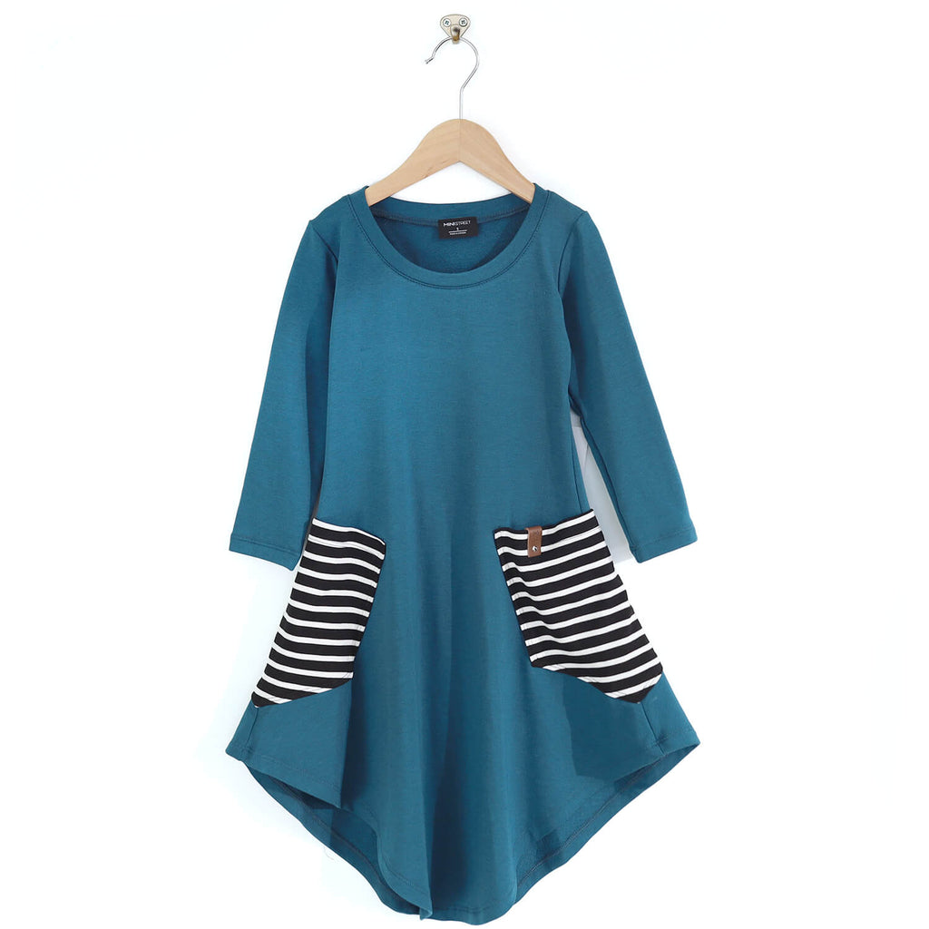 Brady Swing Dress - Peacock Stripe