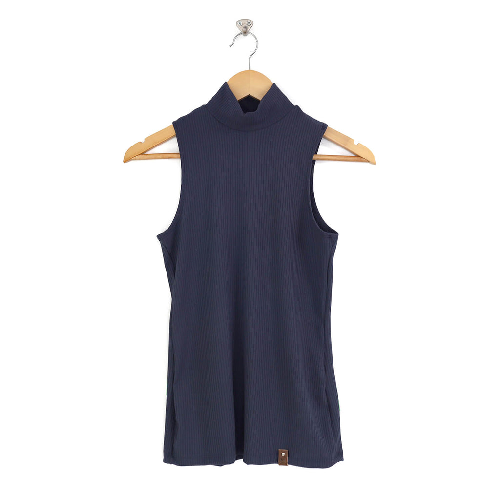 Molly Women's Sleeveless Mock Top - Midnight Blue