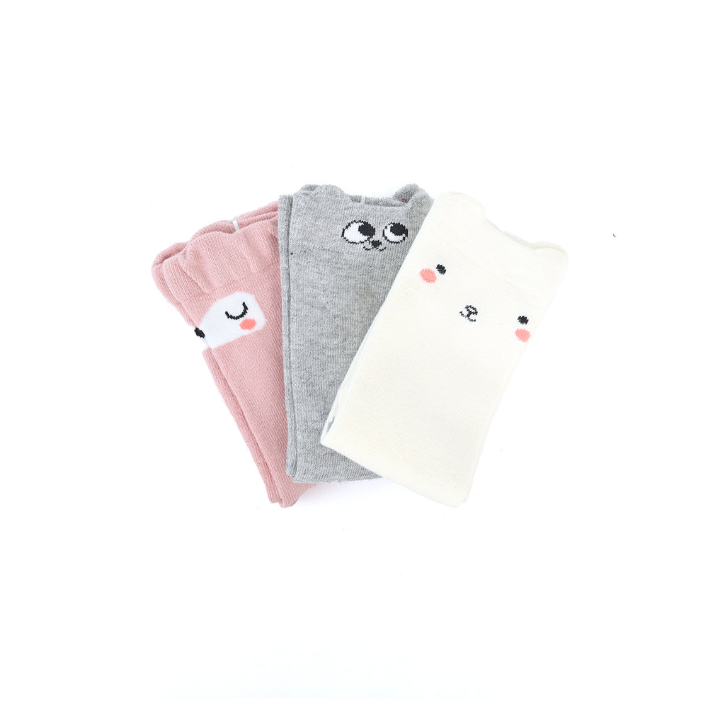 Socks (3pk) - Animal Friends Solids