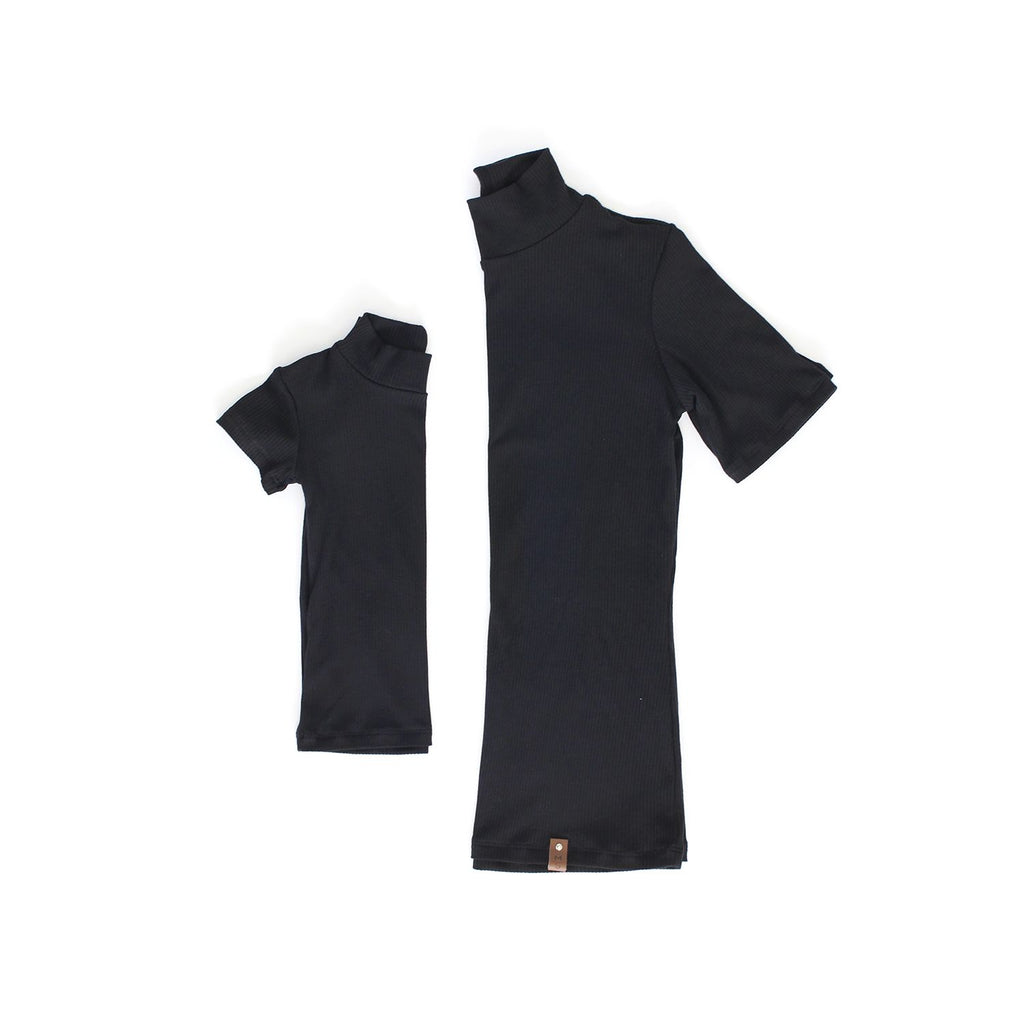 Marin Mock Fitted Tee - Black Rib