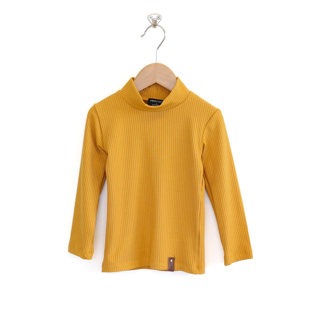 Marin Mock Fitted Tee - Mustard Rib
