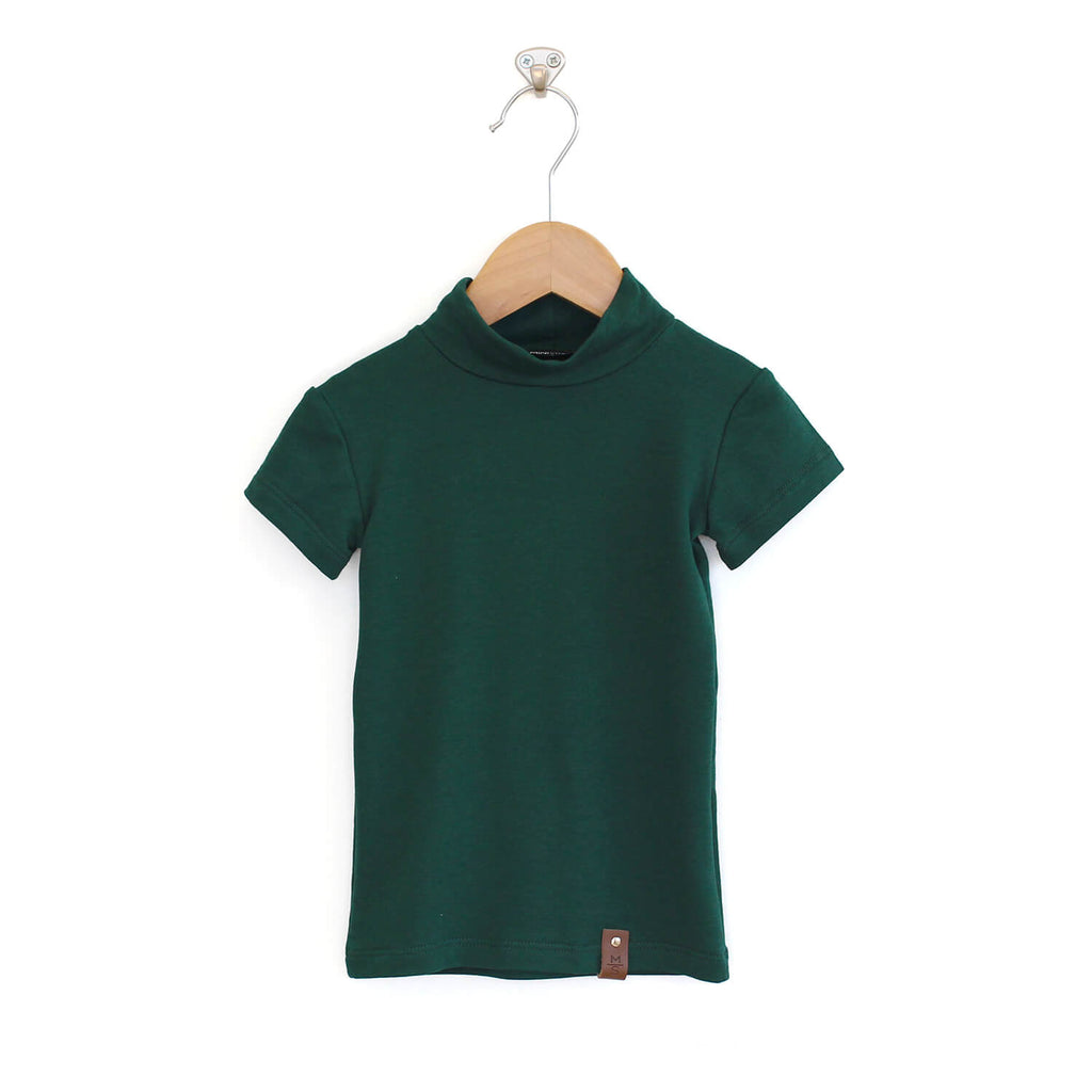 Marin Mock Fitted Tee - Emerald