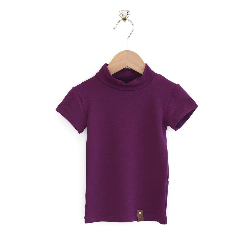 Marin Mock Fitted Tee - Plum