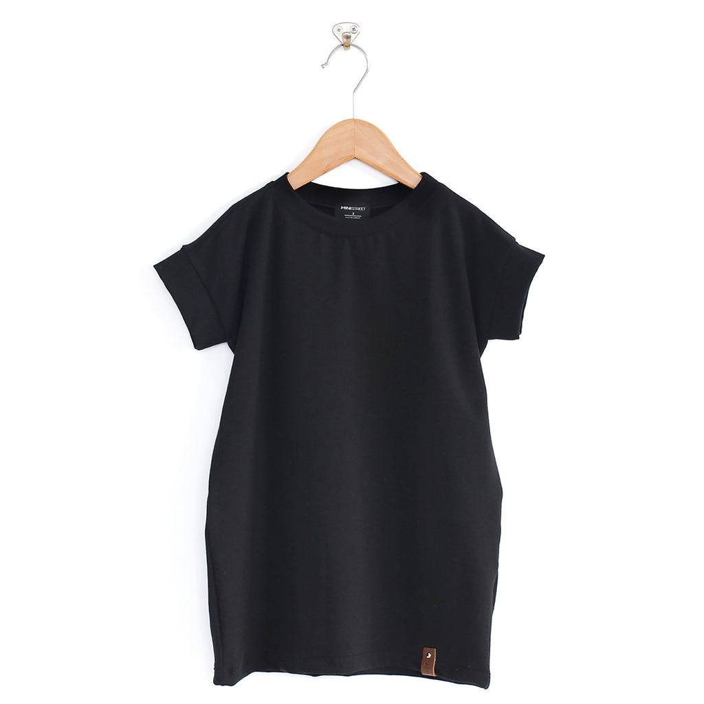 Bree Tee Dress - Black