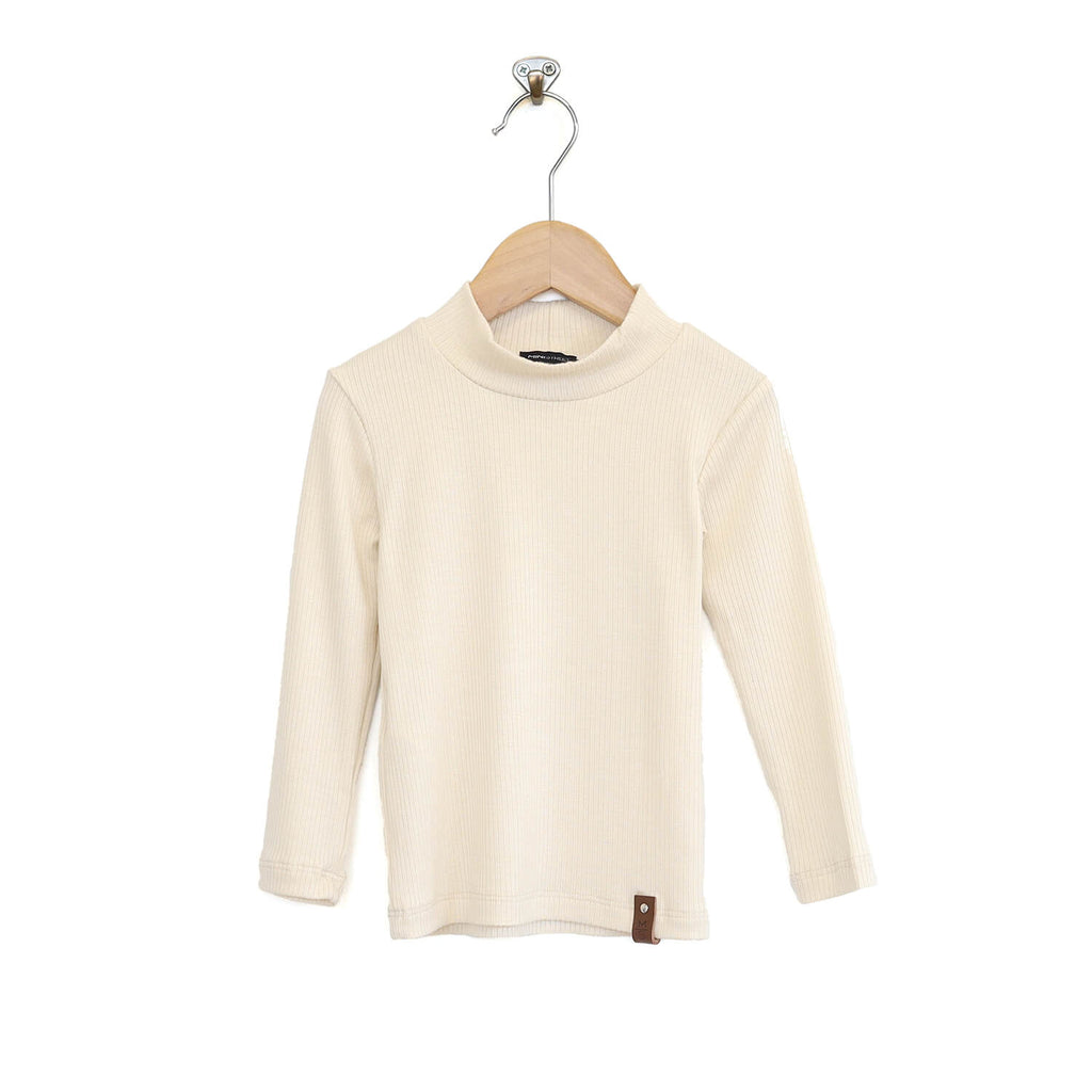 Marin Mock Fitted Tee - Ivory Rib