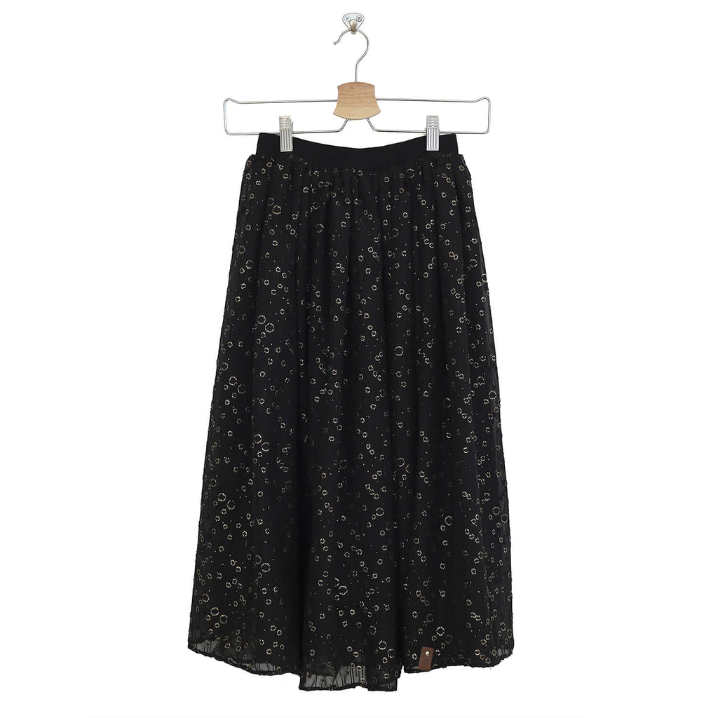 Chloe Woman Midi Skirt - Twinkling Onyx