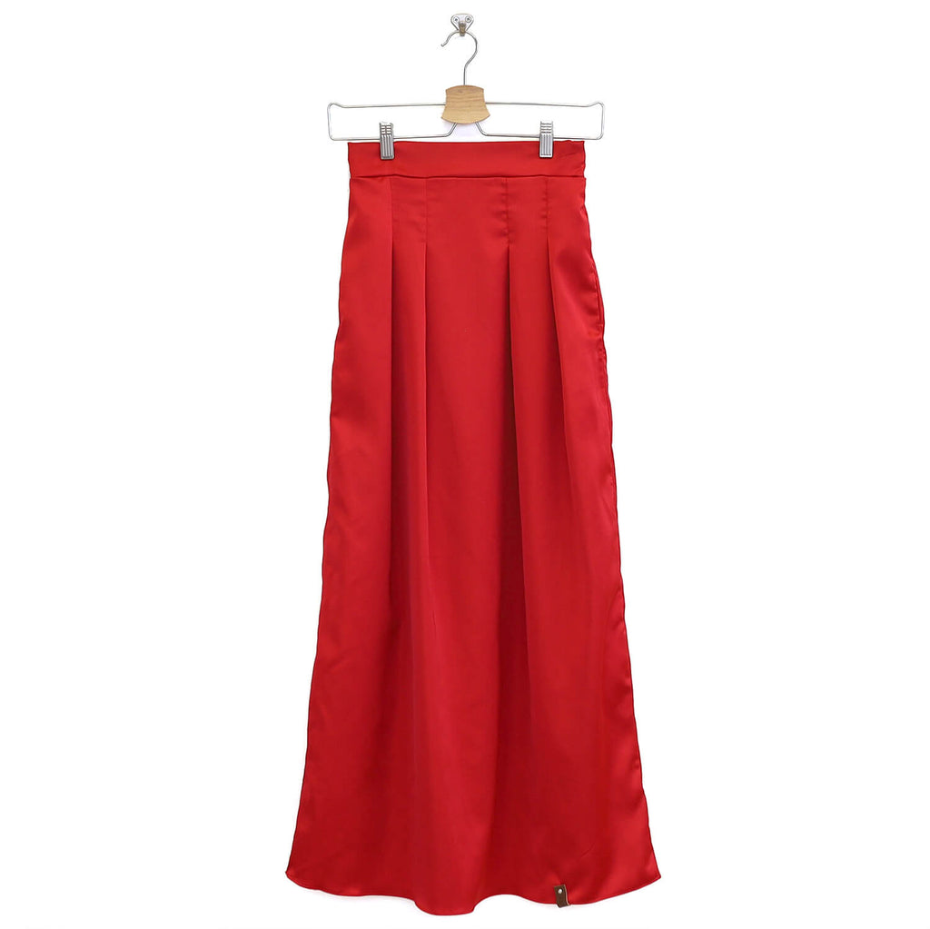 Emery Women's Maxi Skirt - Crimson Red