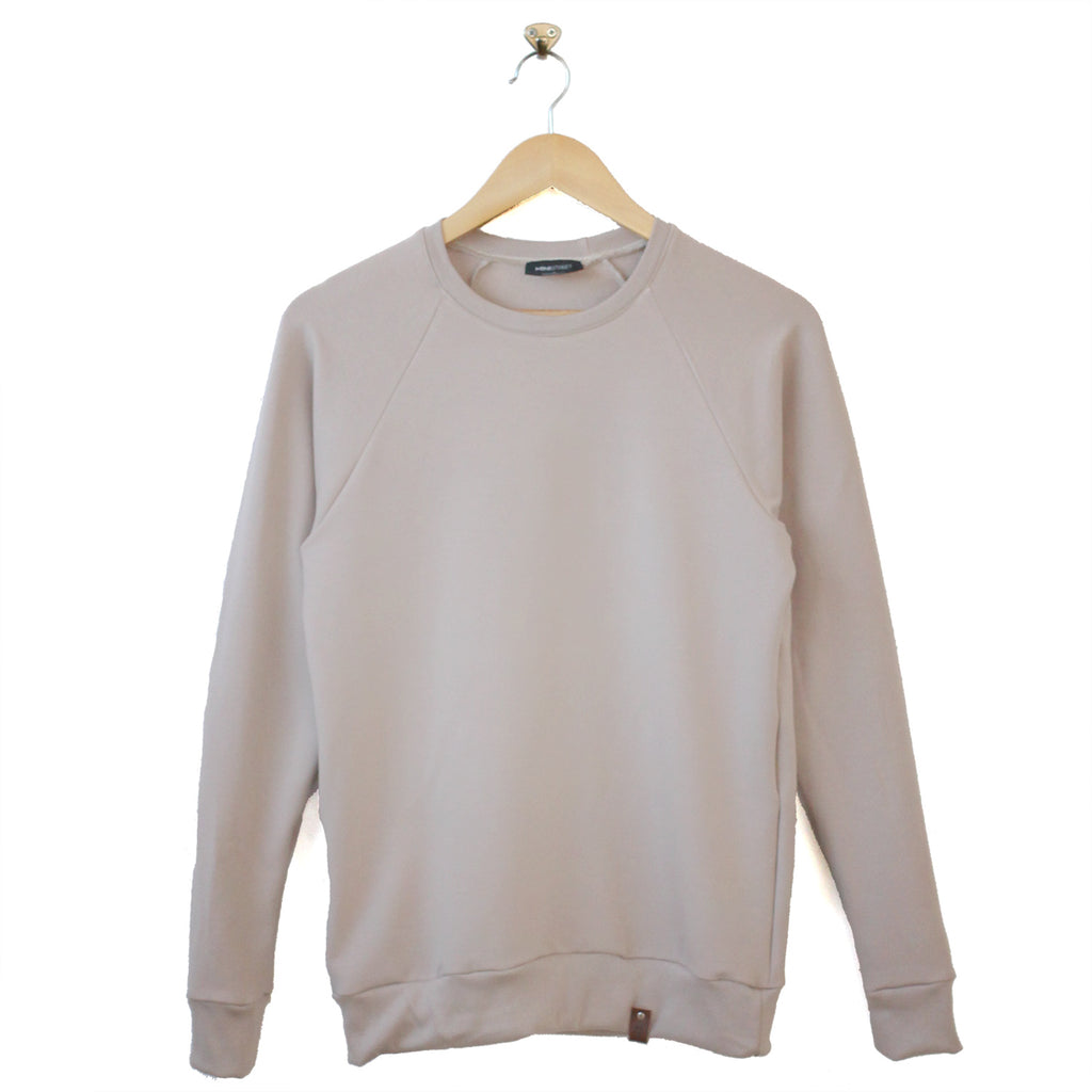 Jaxon Crew Sweater - Adult Taupe