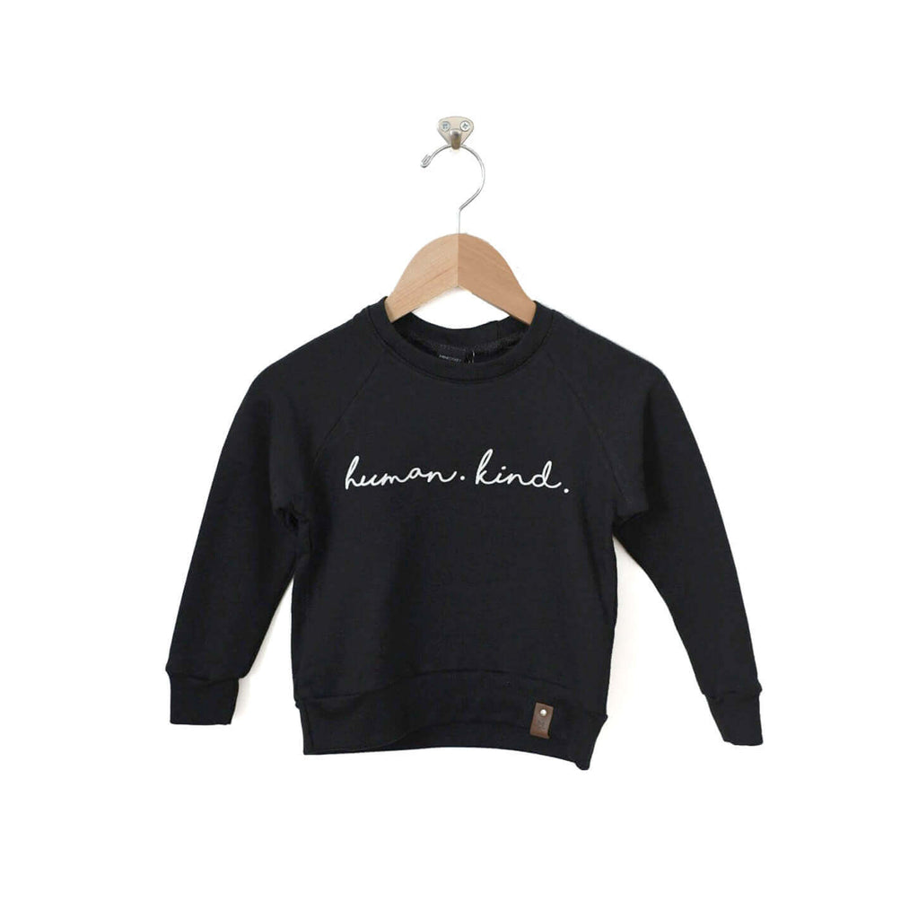 Jaxon Crew Sweater - Human Kind - Black