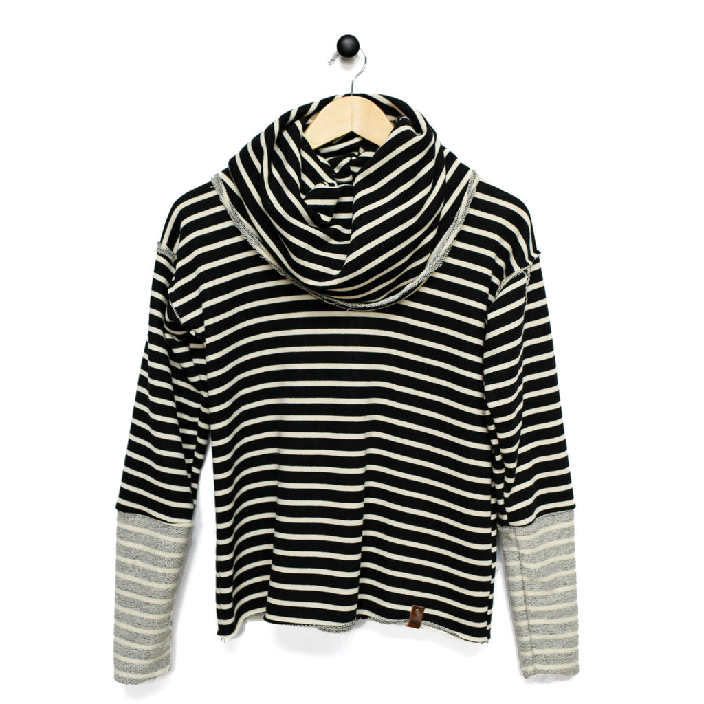 Jessie Women's Sweater - Black Stripe