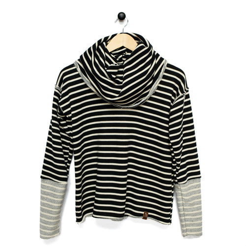 Day 3:  Jessie Woman Sweater - Black Stripe