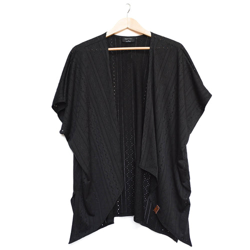 Nevaeh Kimono - Woman - Black Lattice