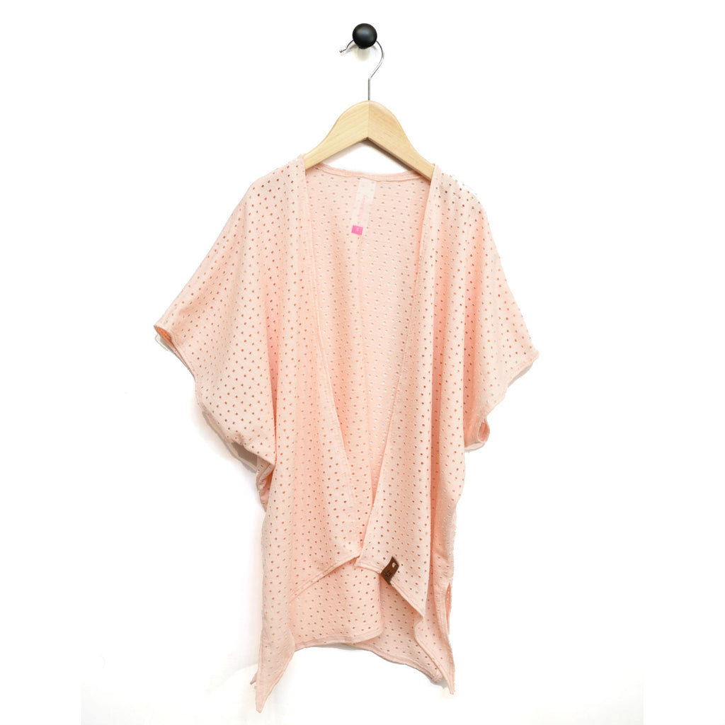 Nevaeh Kimono - Blush Peach Lattice