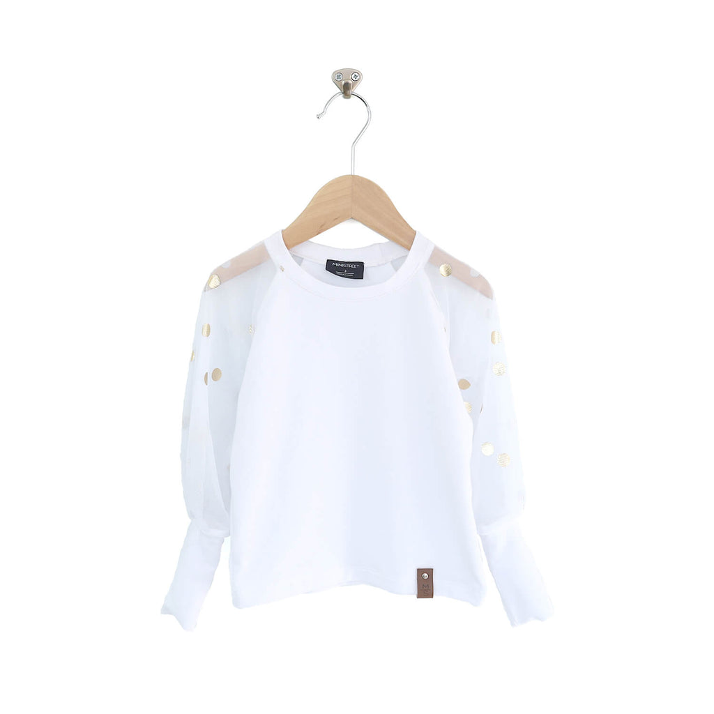 Kira Puff Sleeve Top - White Gold