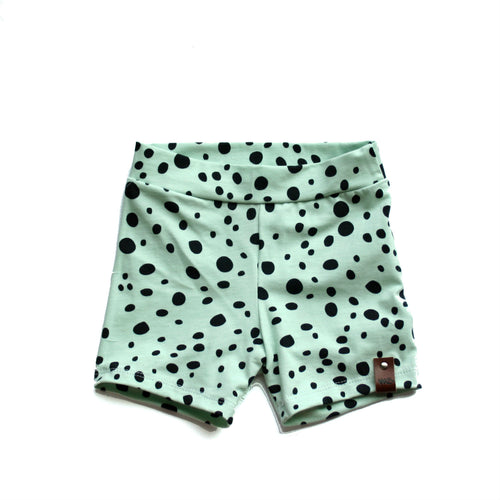 Leah Shorts - Mint Dots