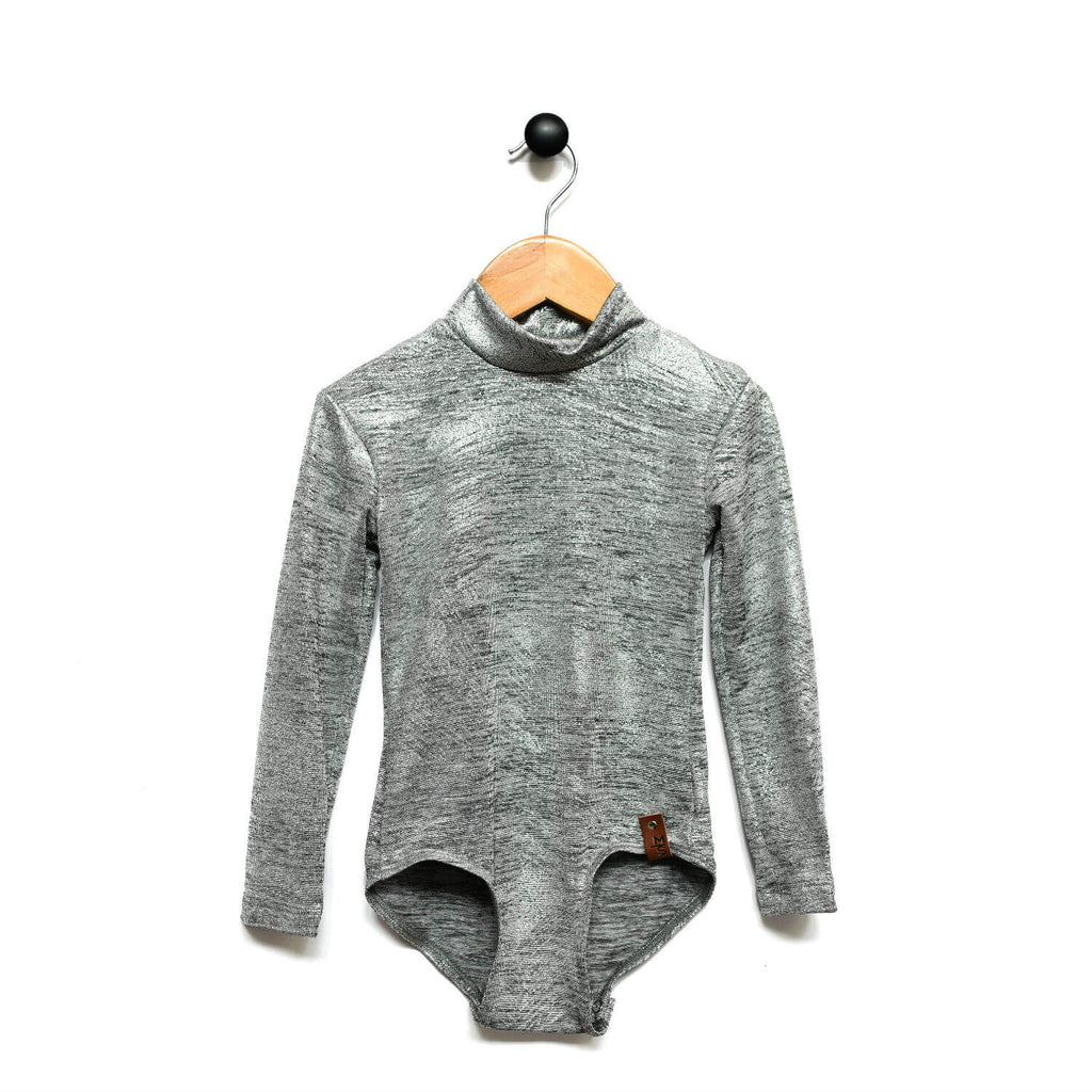 Alyssa Leotard - Metallic Silver