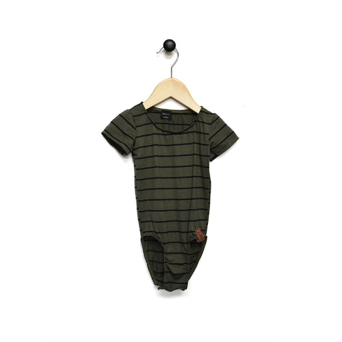 Alyssa Leotard - Olive Stripe