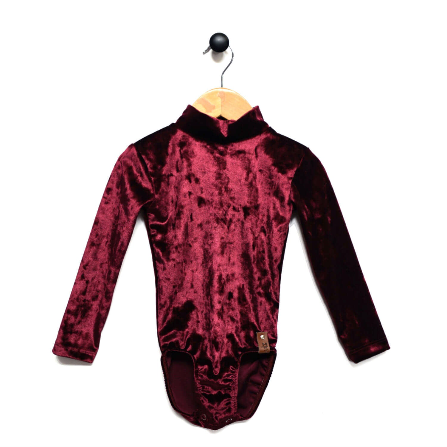 Alyssa Leotard - Textured Velvet Burgundy