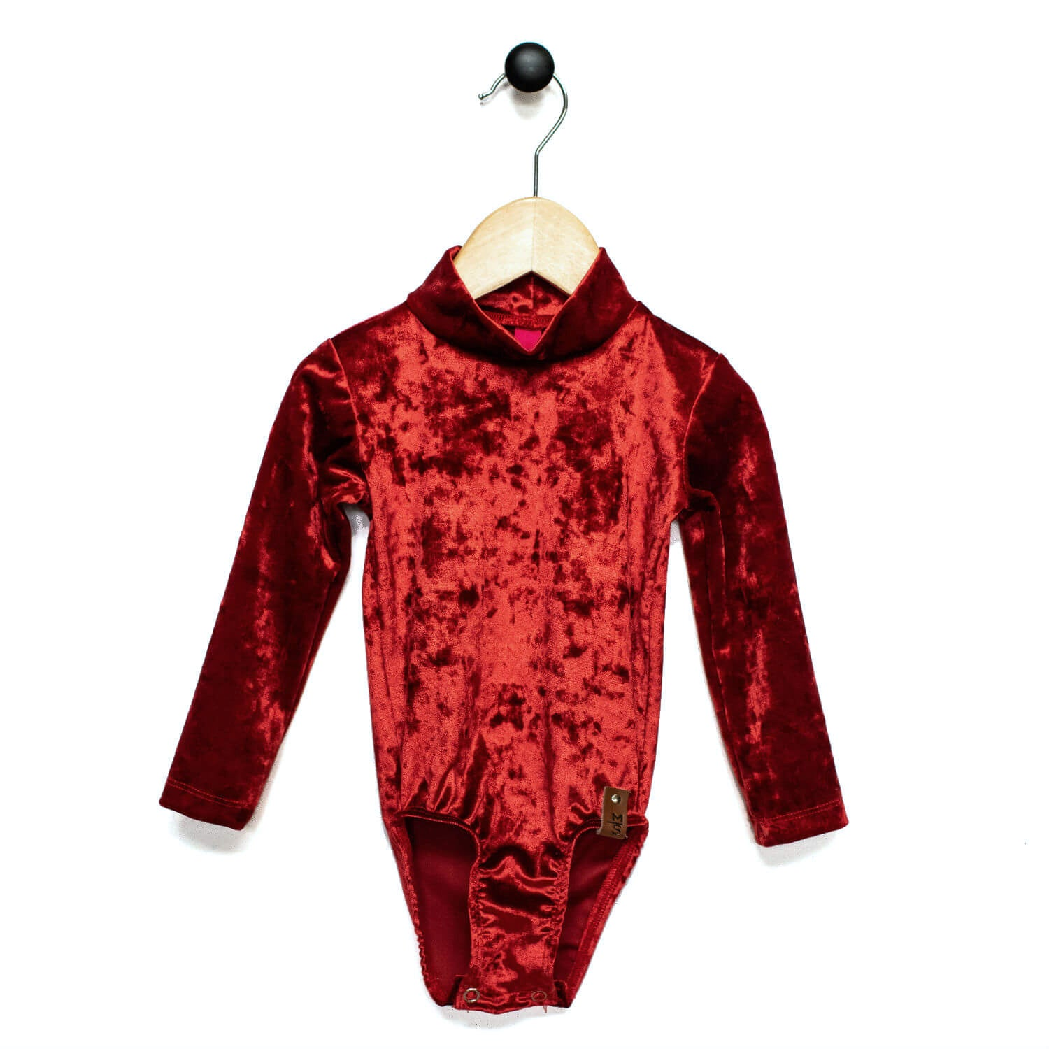 Alyssa Leotard - Textured Velvet Red