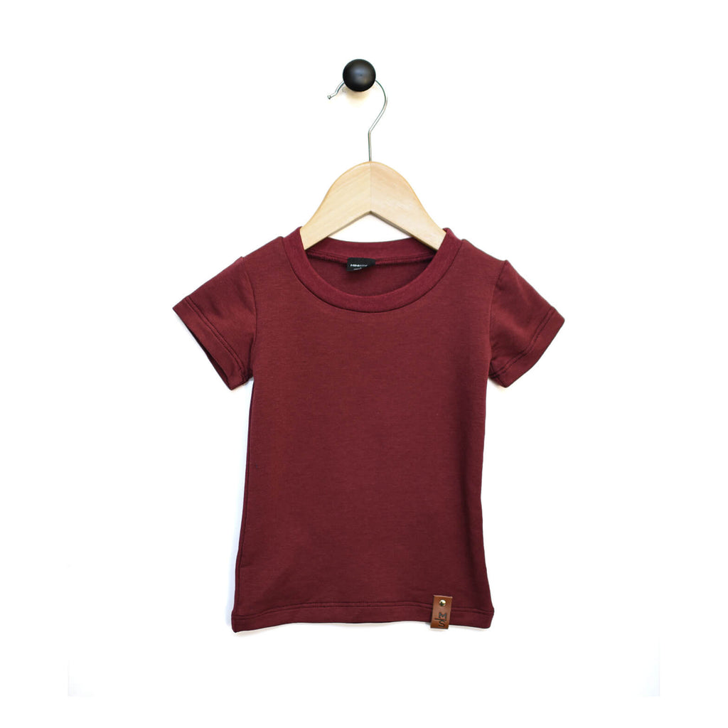 Mae Fitted Tee - Maroon