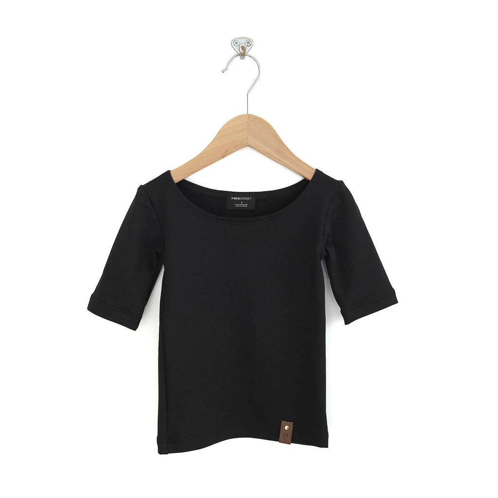 Madeline Fitted Scoop Top - Black