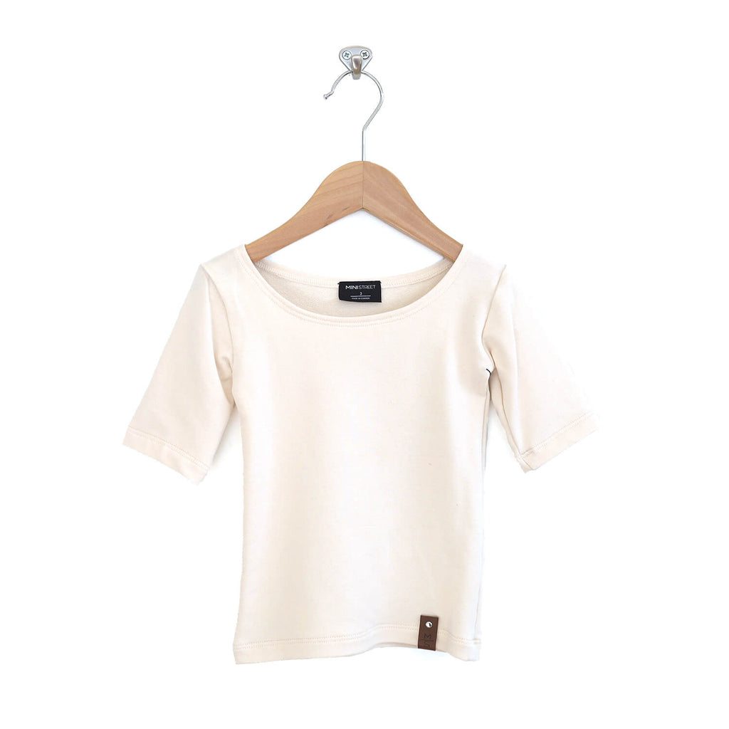 Madeline Fitted Scoop Top - Ivory
