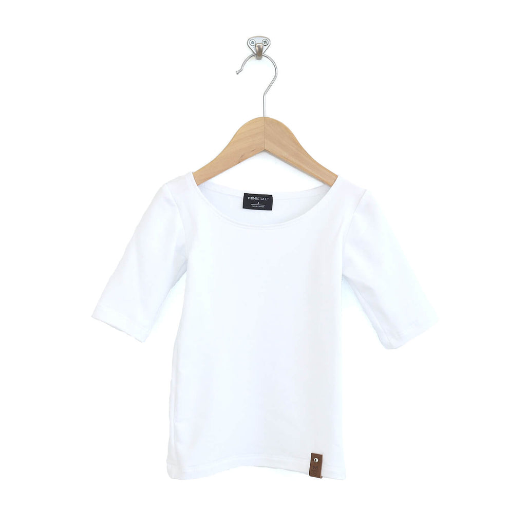 Madeline Fitted Scoop Top - White