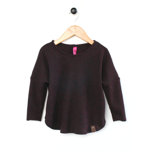 Maisie Sweater - Burgundy Fleck
