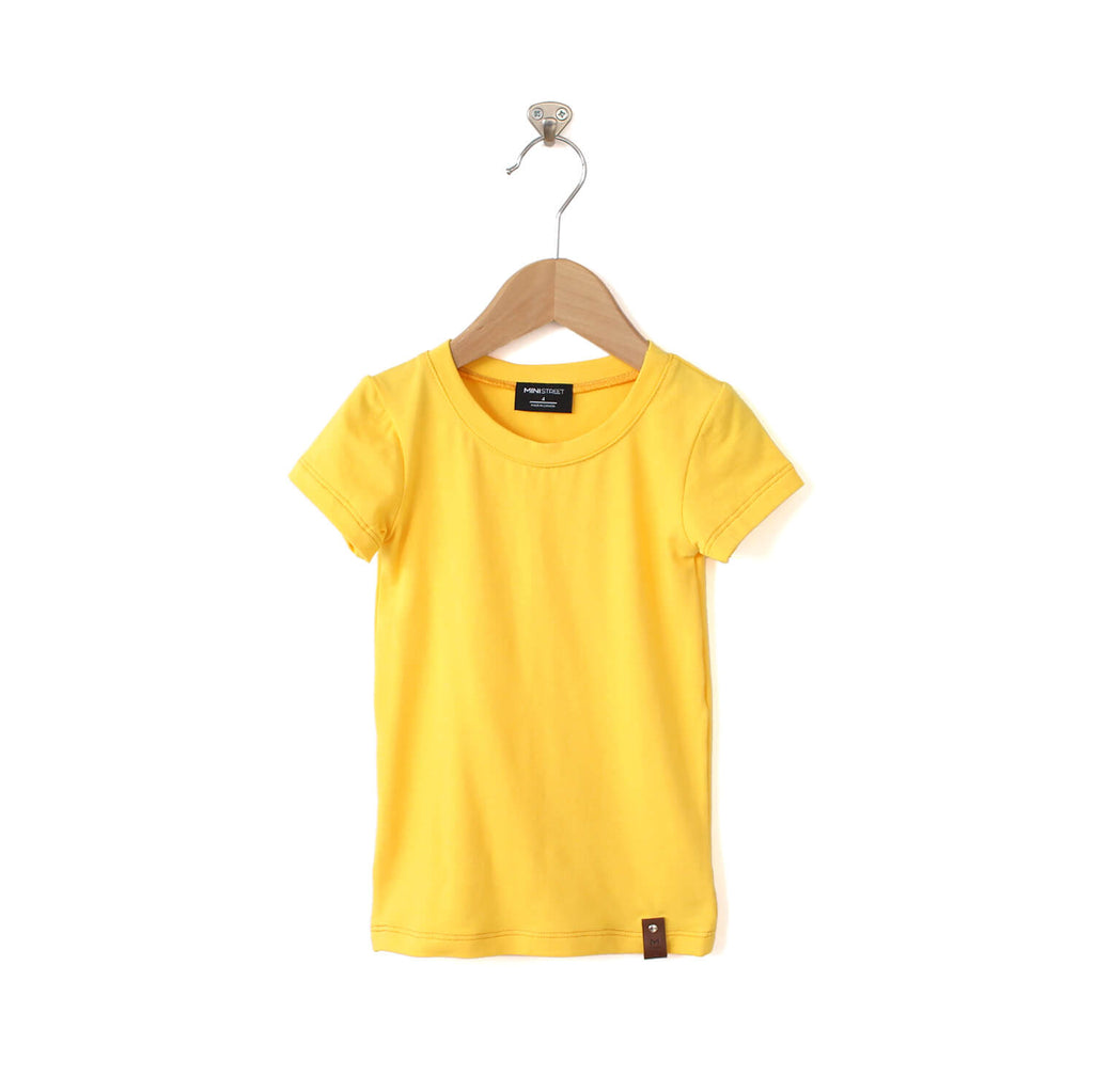 Mae Fitted Tee - Yellow