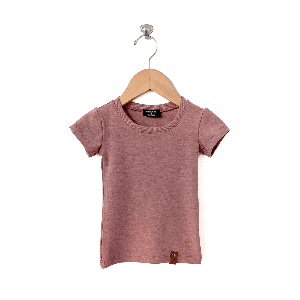 Mae Fitted Tee - Mauve
