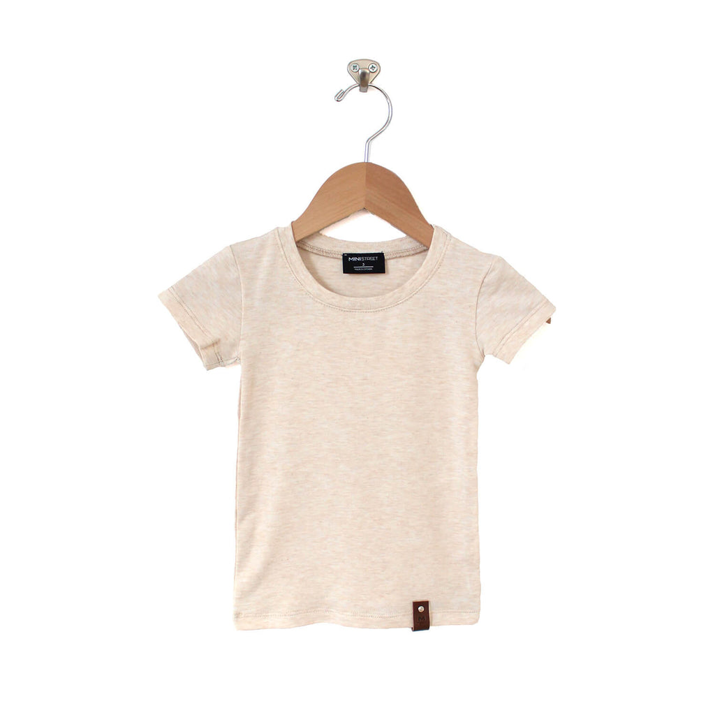 Mae Fitted Tee - Oatmeal