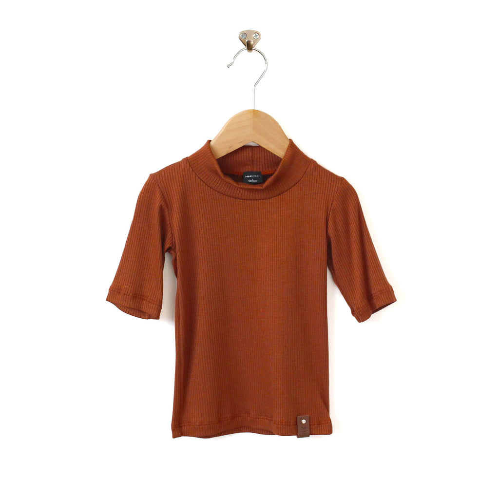 Marin Mock Fitted Tee - Bronze Rib