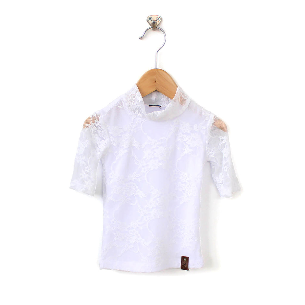 Marin Mock Tee  - White Lace