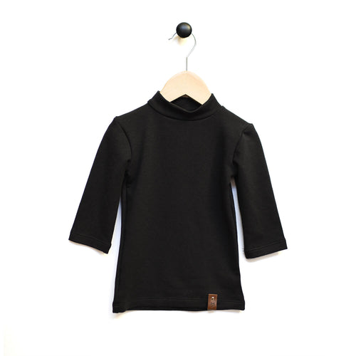 Marin Mock Fitted Tee  - 3/4 Sleeve - Black