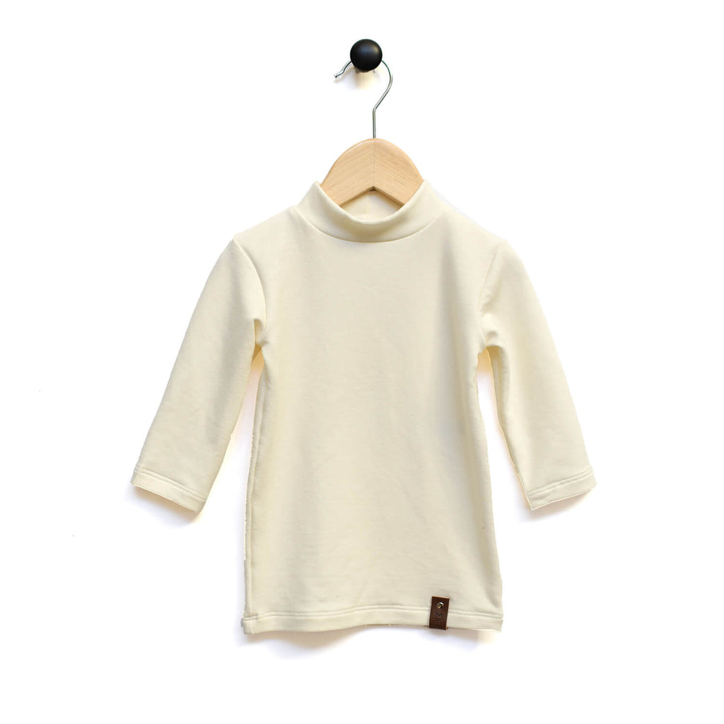 Marin Mock Fitted Tee  - 3/4 Sleeve - Cream