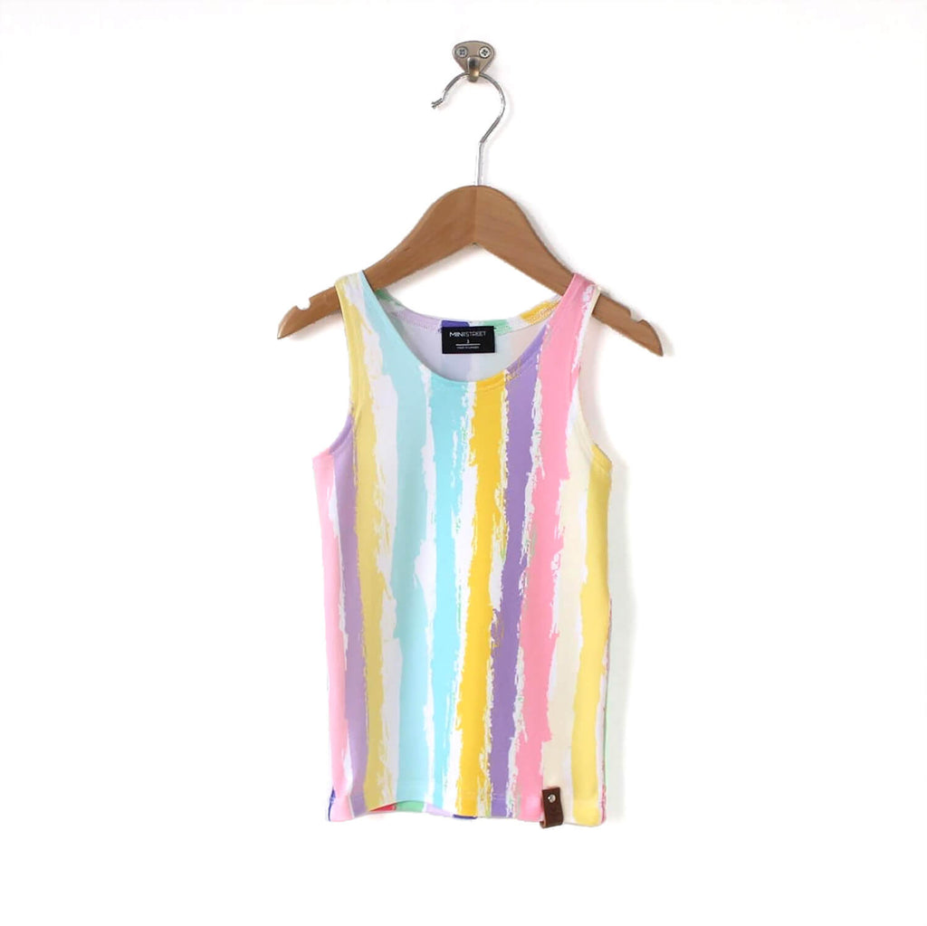 Mia Fitted Tank - Rainbow