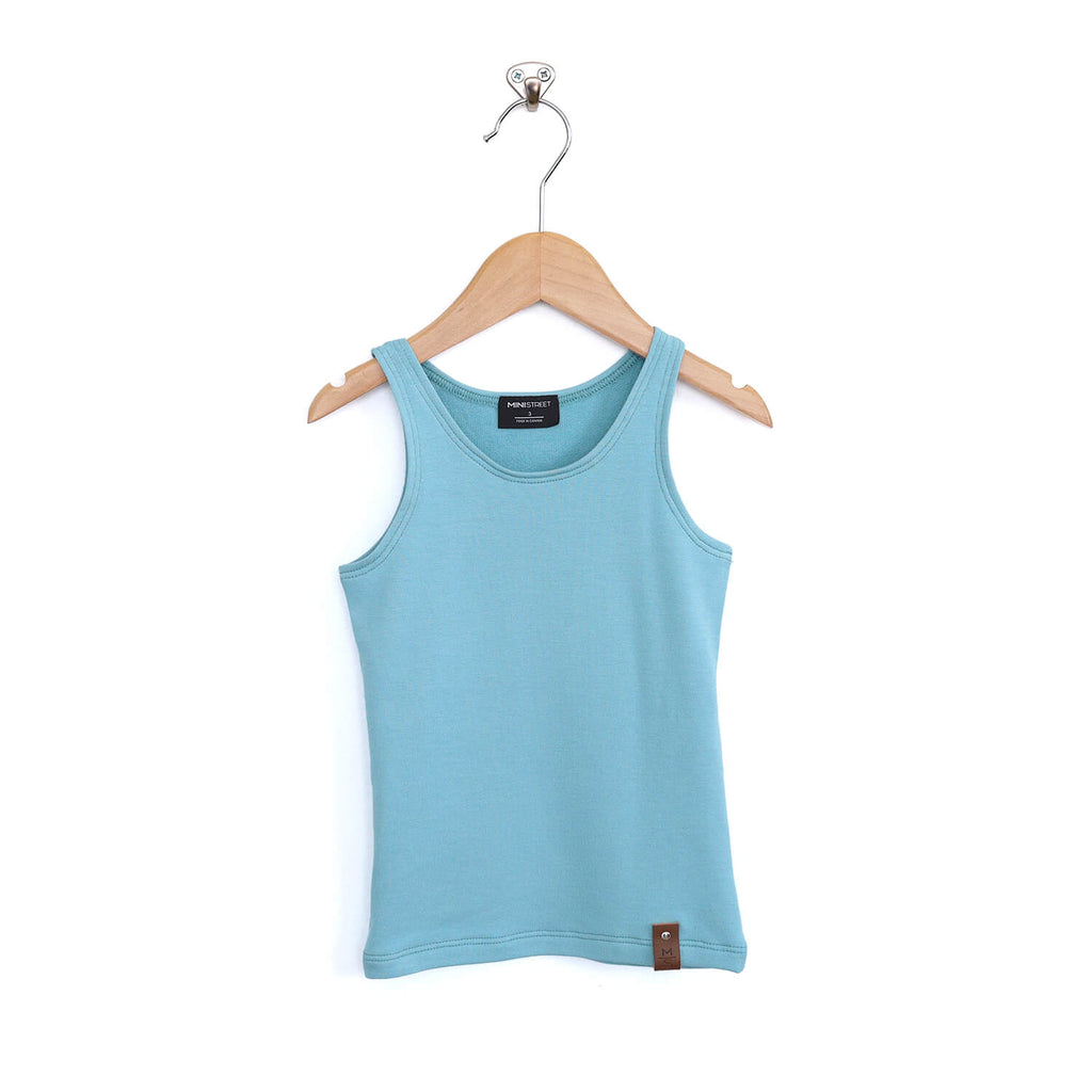 Mia Fitted Tank - Sky Blue