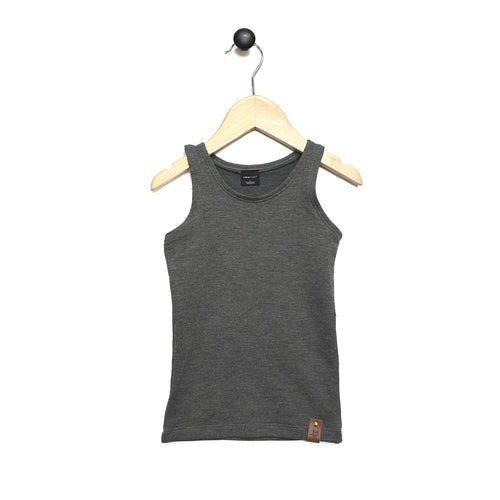 Mia Fitted Tank - Charcoal