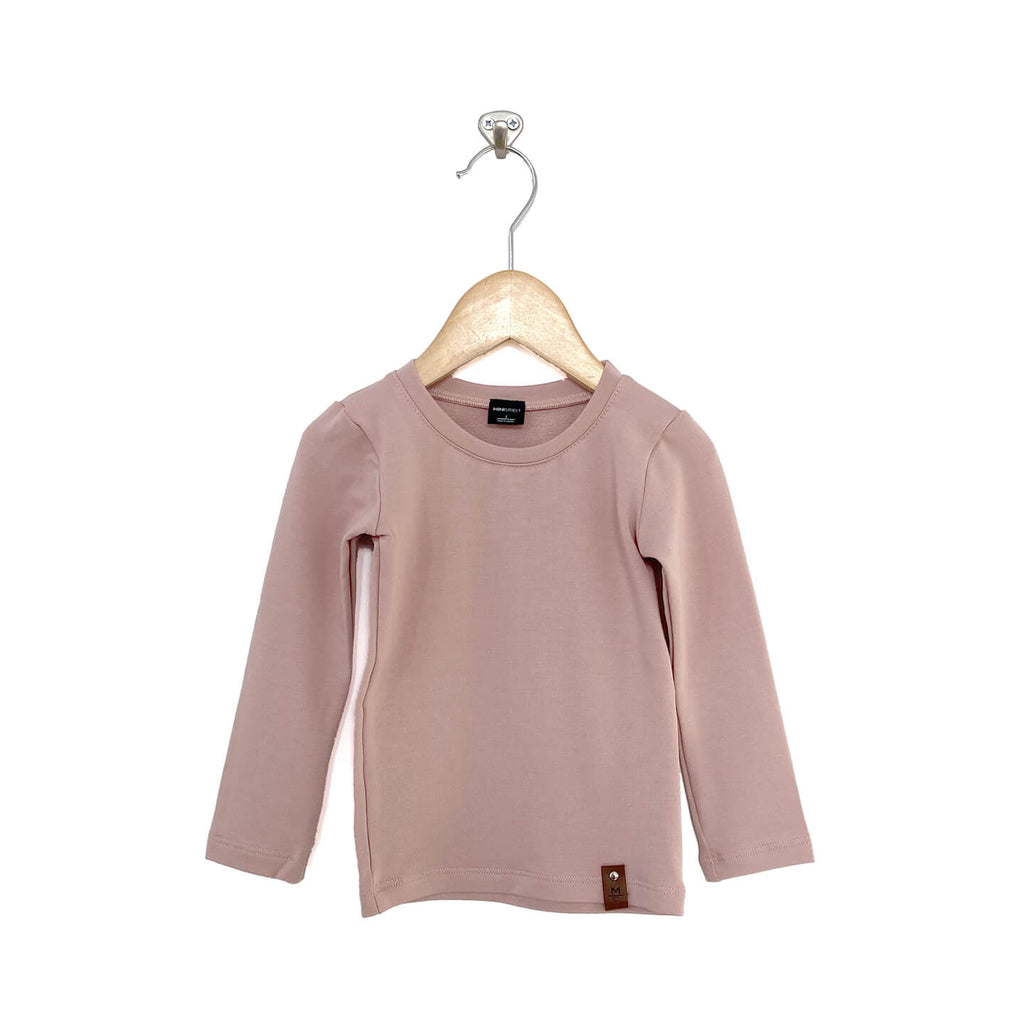 Mila Fitted Long Tee - Blush Pink