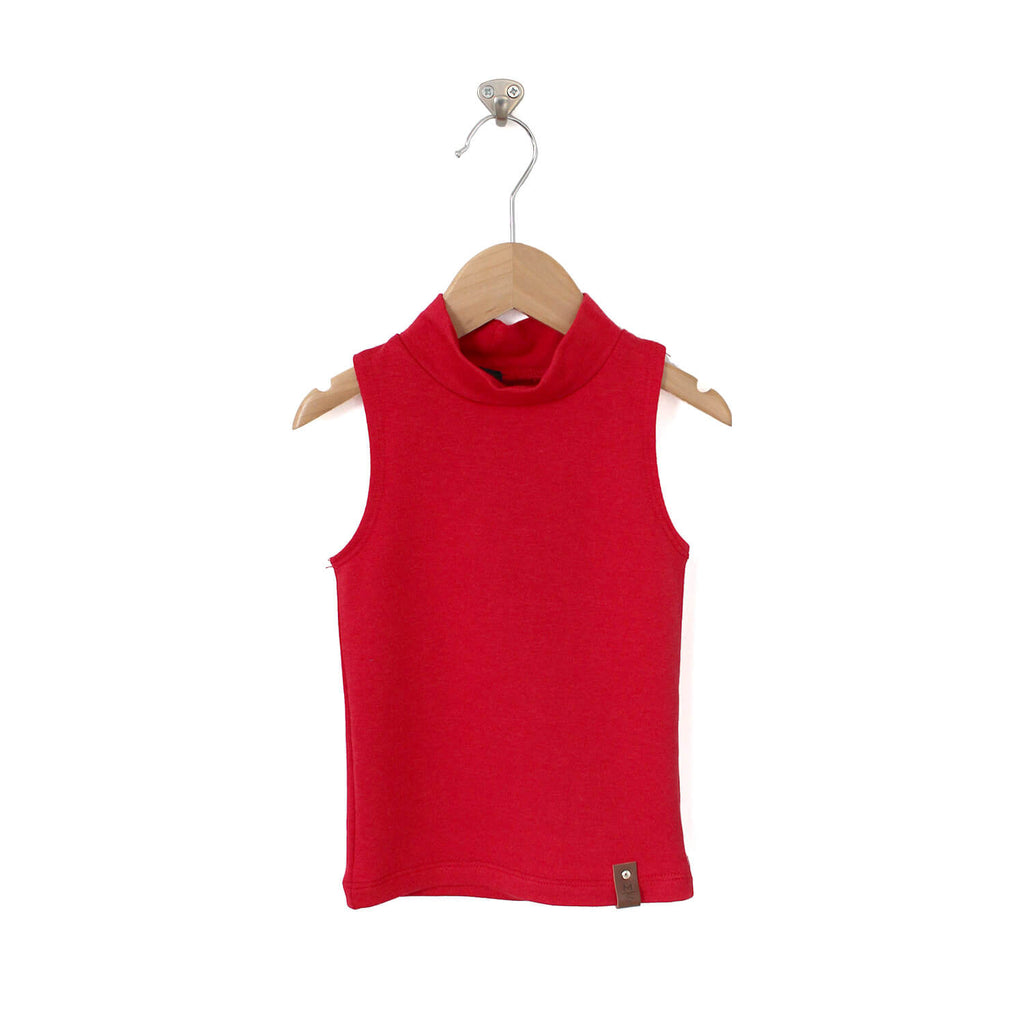 Molly Sleeveless Mock - Red