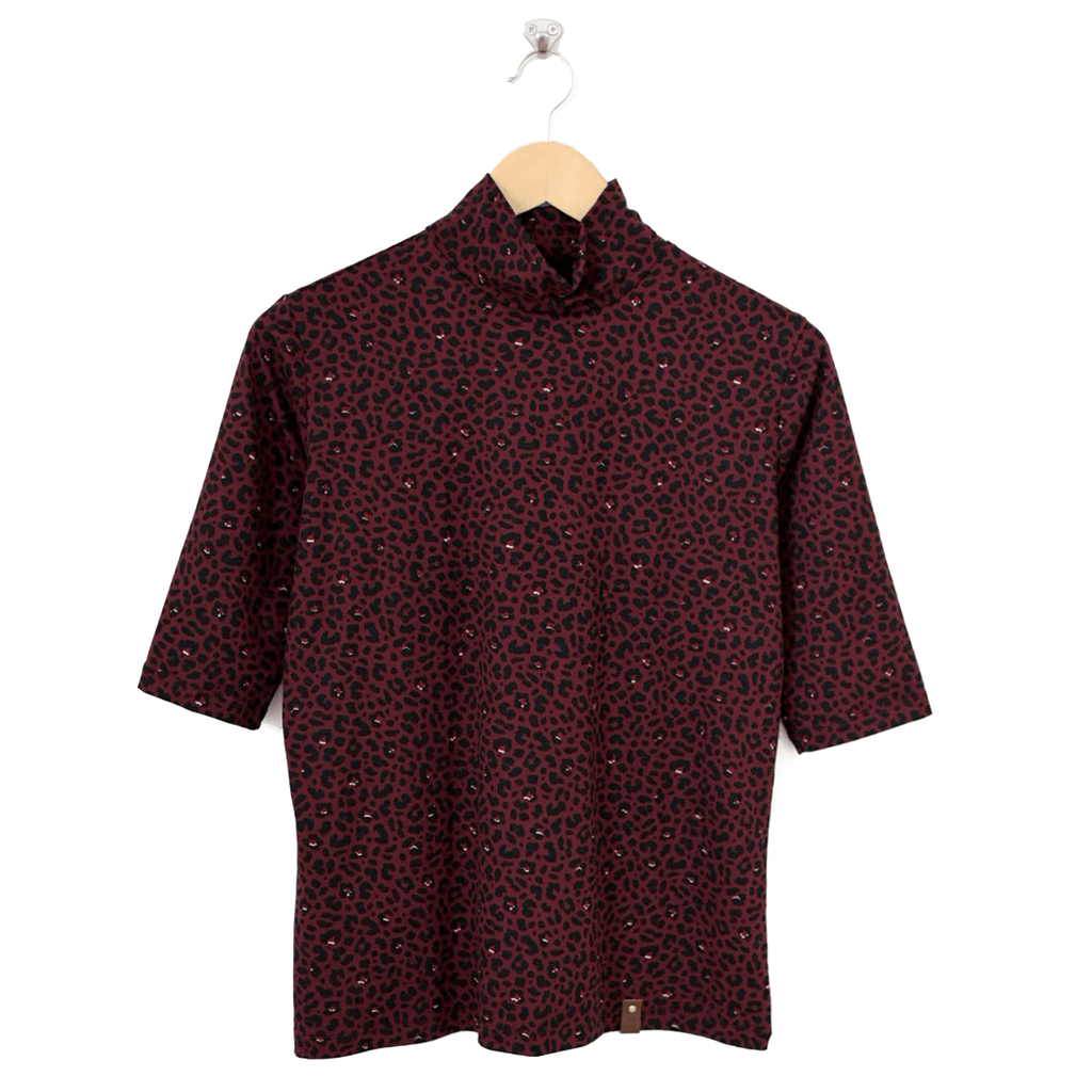 Marin Women's Top - Burgundy Leopard