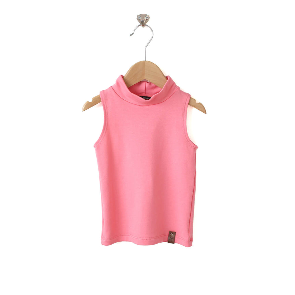 Molly Sleeveless Mock - Pink