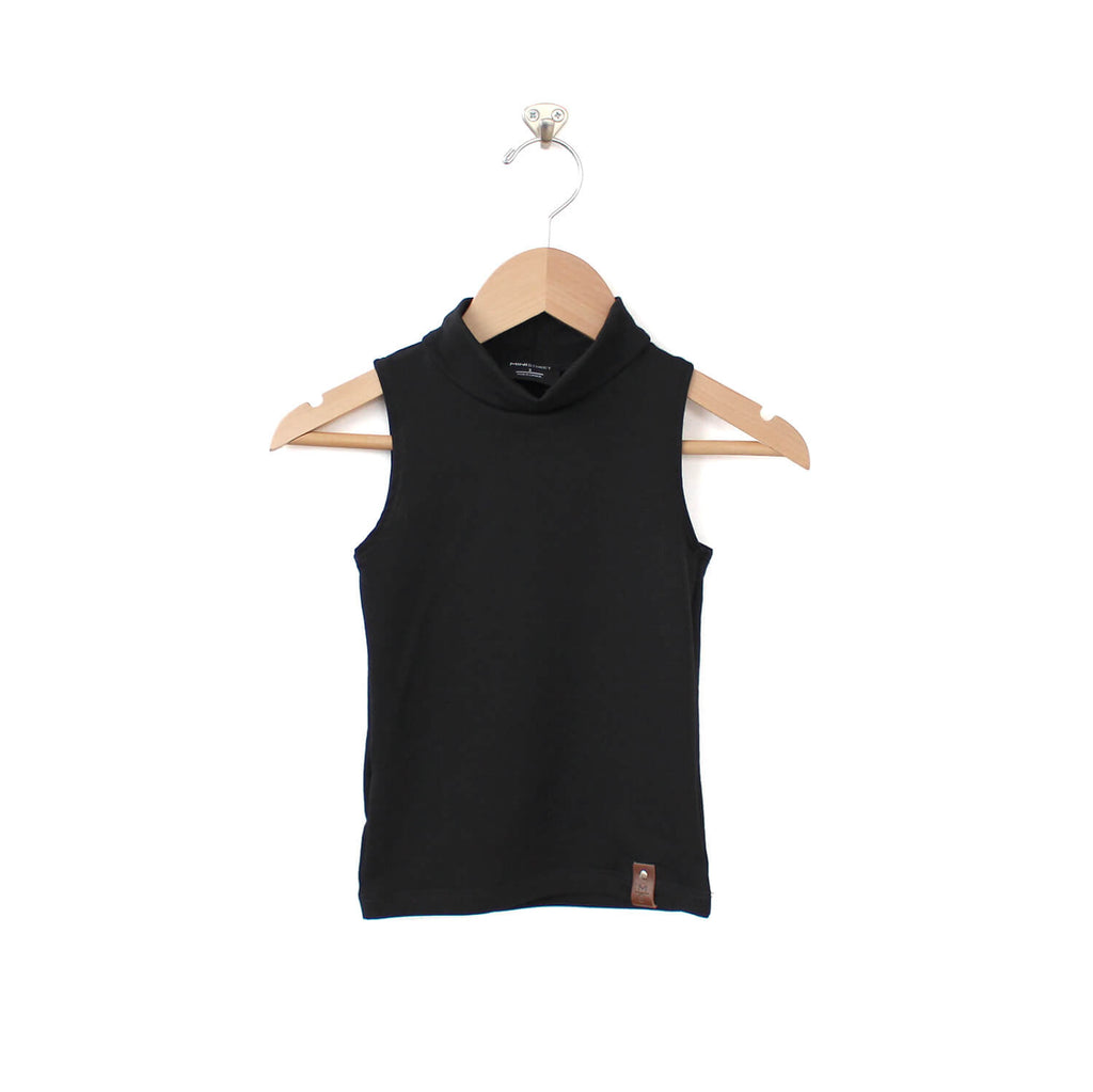 Molly Sleeveless Mock - Black